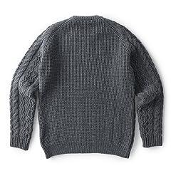 Sloane Wool Cable Crewneck Sweater: Grey