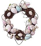 "Pastel Easter Egg Decorative Wreath - 13.25"""