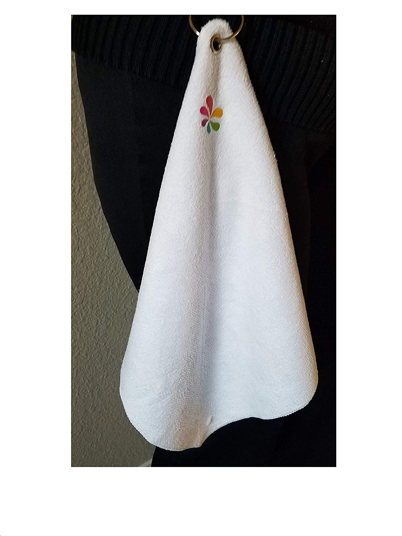 Tinos Microfiber Greens Towel with Carabiner 12 x 12