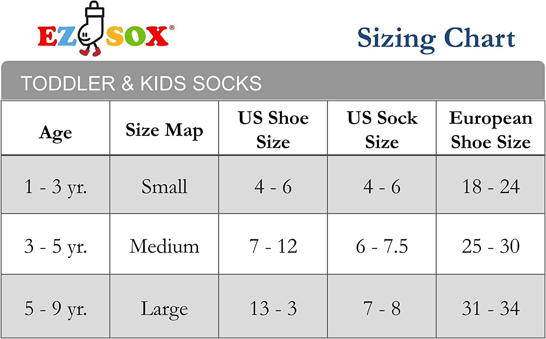 Ez Sox Toddler Boys Girls Socks Non Skid Seamless Toe Anti Slip Grip Pull Up Loops