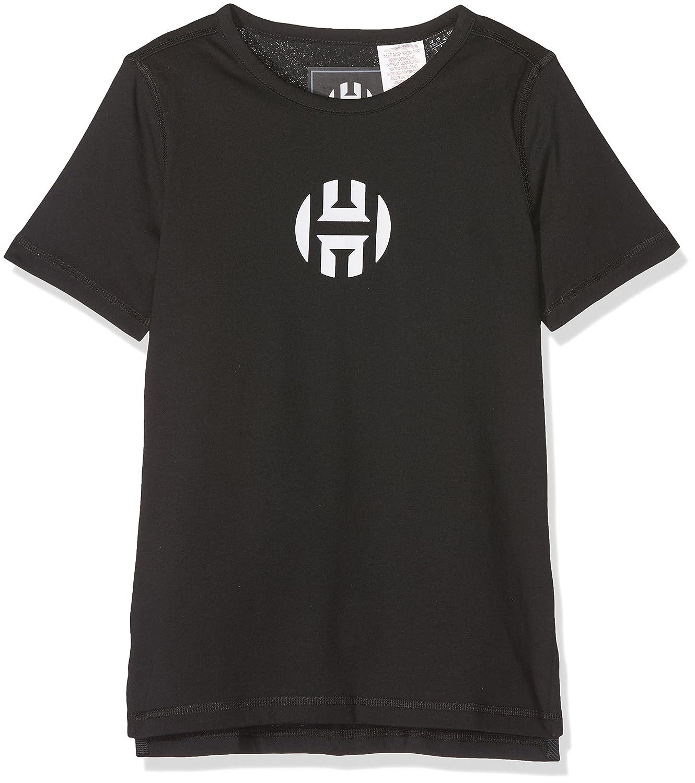 adidas Y Harden Logo T Camiseta de Baloncesto, niños, Negro, 152 niños CE7726