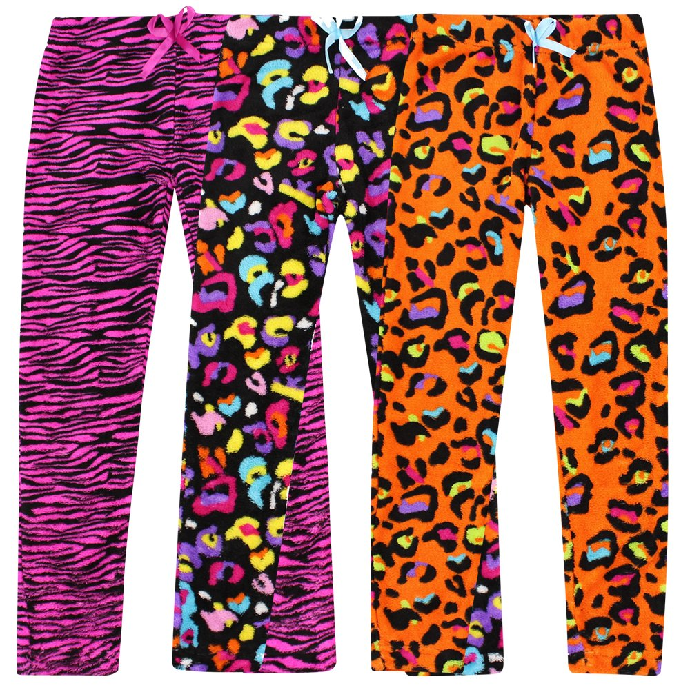 7c8ed7a57c Real Essentials 3 Pack  Fleece Pajama Pants Bottoms for Girls ...