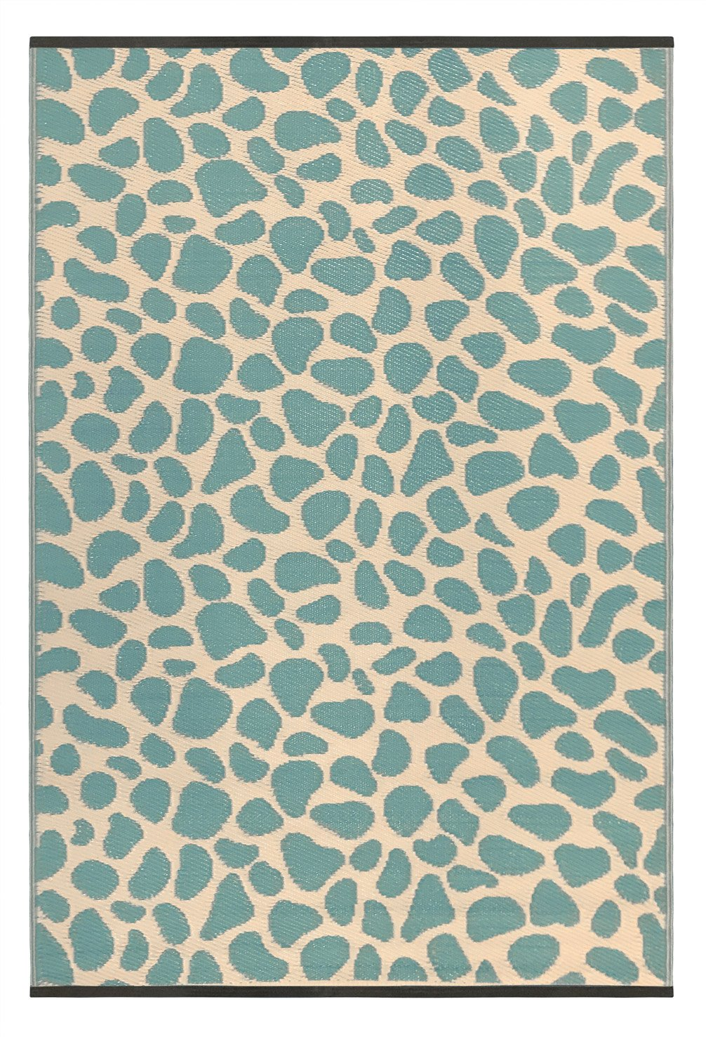 Outdoor/Light Weight/Reversible Eco Plastic Rugs (3 x 5, Green/Sand)