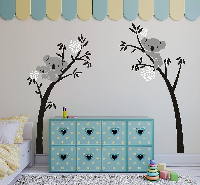 Bdecoll Baum Wandtattoo Kinderzimmer Wandsticker Cartoon Tiere