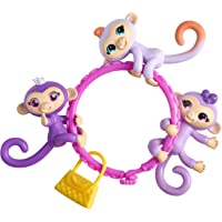WowWee Fingerlings Minis-Series 1 Banana Blister (5 Piece) 3 Figures, Multicolor