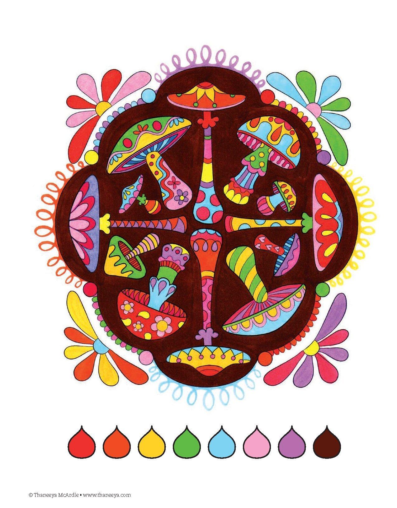 Nature Mandalas Coloring Book Thaneeya McArdle 9781574219579 Books
