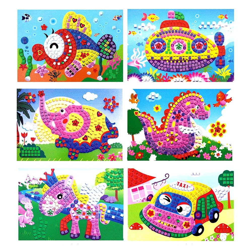 Matefield Mosaicos de Cristal 3D Art Princess Butterflies Sticker Craft Art Sticker