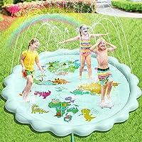 Peradix Splash Pad, 200 cm sprinkler speelmat sprinkler kinderen anti-slip waterspeelmat zomer tuin waterspeelgoed…