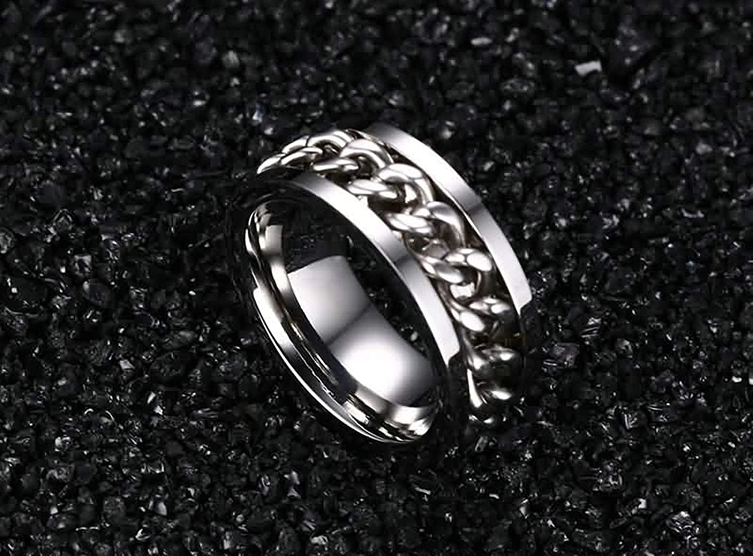 Epinki Ring Engagement Band Jewelry Stainless Steel Rings for Men Wedding Ring Chain Design Ring