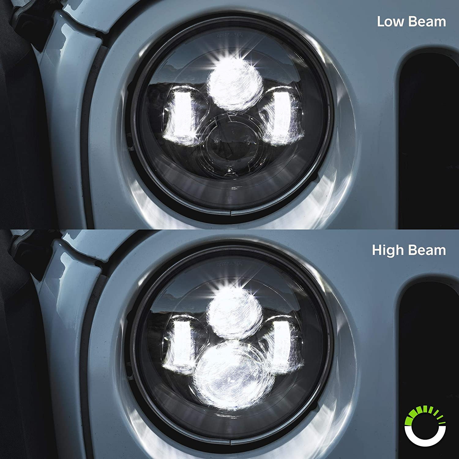 4 Fog Light - Accessories for Jeep Wrangler 1987-2018 Head Light Built-In CAN Bus HALO DRL + Turn Signal H4 Plug 7 Round CREE LED Headlights for Jeep Wrangler JK TJ LC CJ