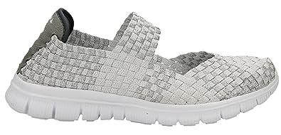 Andy Z , Damen Sneaker Weiß Silber, Weiß Silber Größe