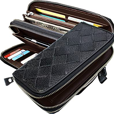 250c3909671a [ザリオ]ZARIO 長財布メンズ メッシュ シンプル 大容量 ラウンドファスナー 2層式
