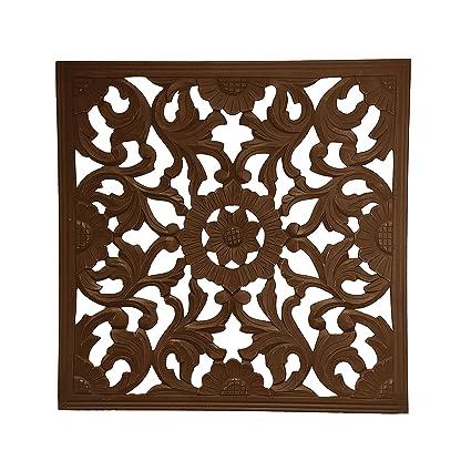 Amazon.com: Fetco Home Decor Zaria Handcrafted Square Wall Medallion ...