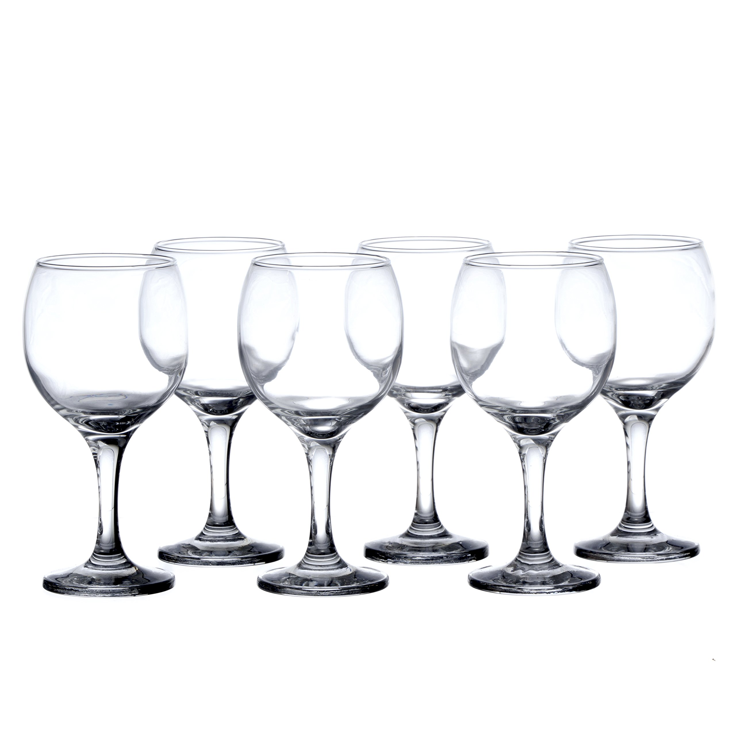 BISTRO 12-piece Wine Glasses Set (in 3 size), White, Red and Liquor Wine, Restaurant&Bar Quality, Durable Tempered Glass, Heavy Base, t.m. Pasabache (7 1/2 oz) by Pasabache (Image #4)