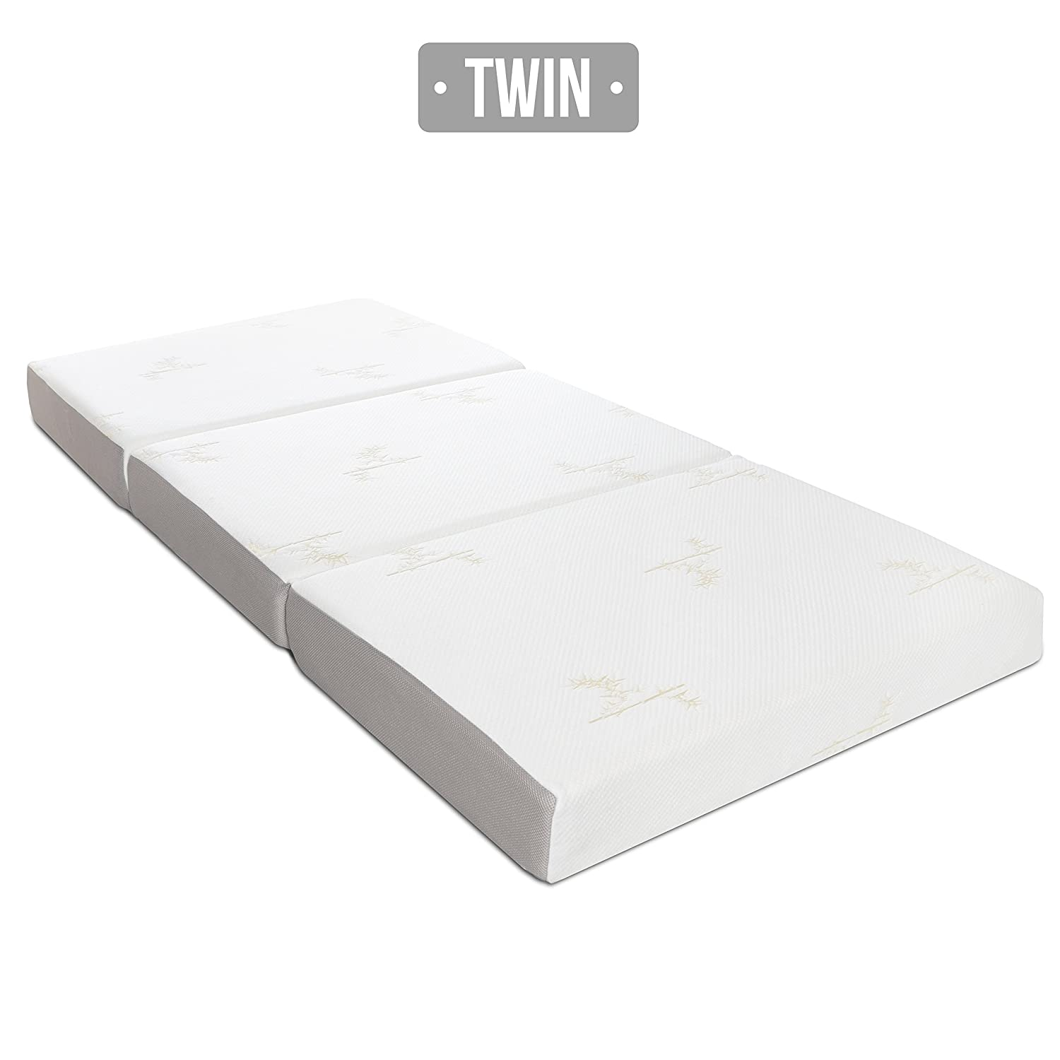 Very Simple Tri Fold Futon Mattress Amazon.com: Milliard 6-Inch Memory Foam Tri-fold Mattress with Ultra Soft  Removable Cover with Non-Slip Bottom - Twin: Kitchen u0026 Dining