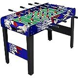 Moko 100103 - Calciobalilla Big Soccer Aste Rientranti con Palline, Blu