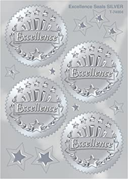 32 ct. TREND enterprises Gold Congratulations Award Seals Stickers Inc