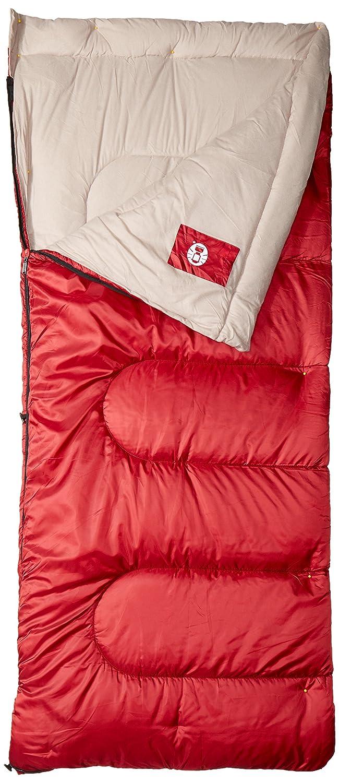 Coleman Palmetto 75 x 33 en rectangular saco de dormir rojo/marrón: Amazon.es: Deportes y aire libre