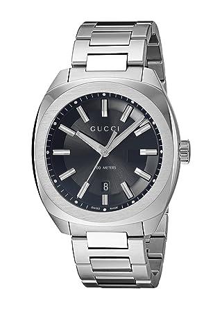 gucci quartz. gucci swiss quartz stainless steel dress silver-toned men\u0027s watch(model: ya142401) [