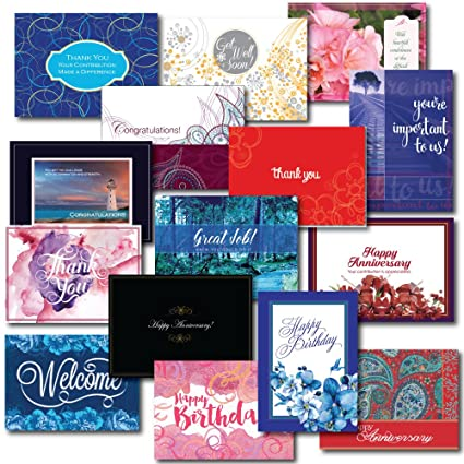 Employee appreciation greeting card assortment a variety box set of employee appreciation greeting card assortment a variety box set of 30 cards created especially for m4hsunfo