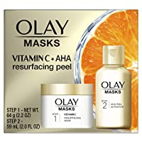 Olay Vitamin C Face Mask Kit, Exfoliator Kit with Mask, Silica, Exfoliating Aha...