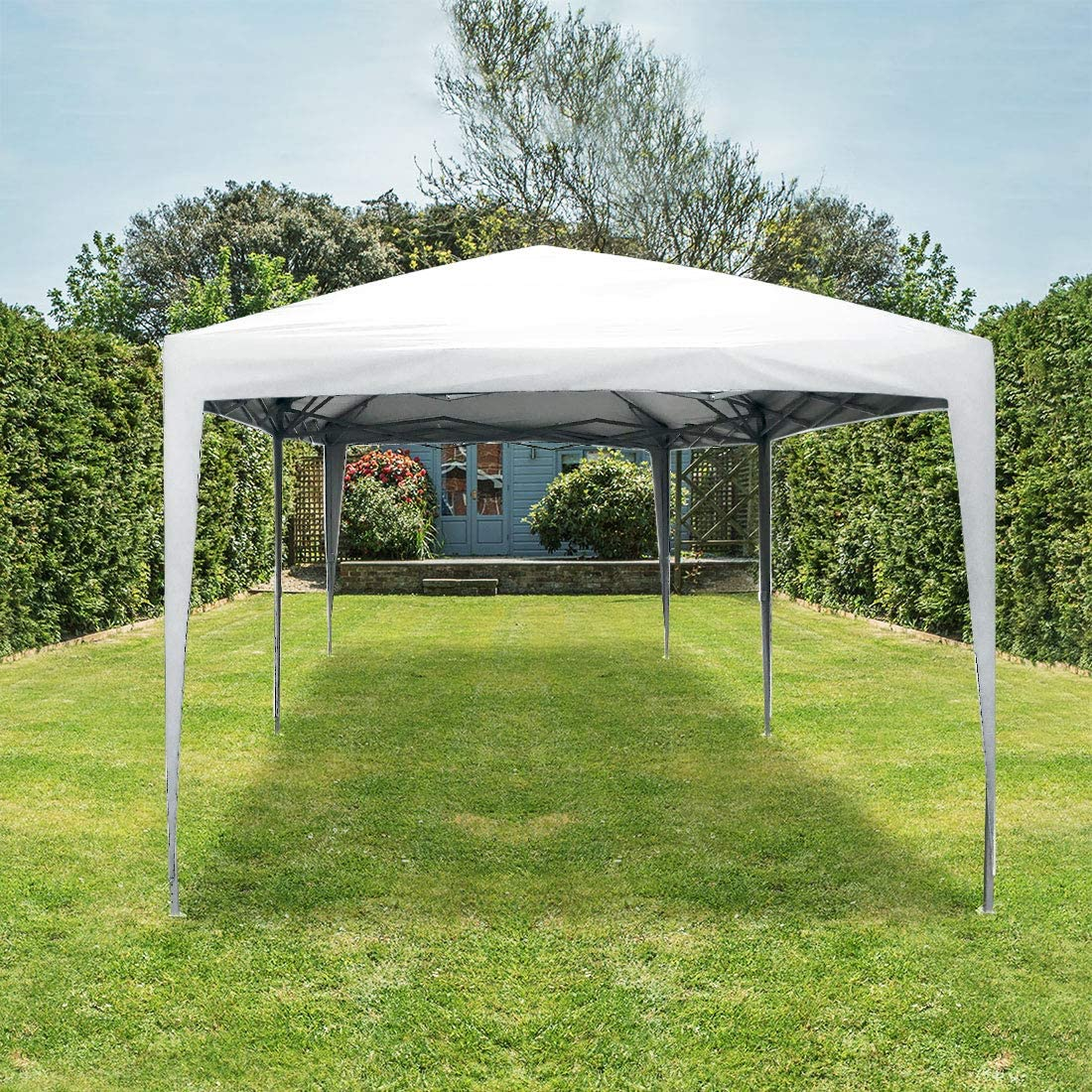 Quictent Privacy 10×20 EZ Pop Up Canopy Tent Party Tent Outdoor Event Gazebo Waterproof with Roller Bag White