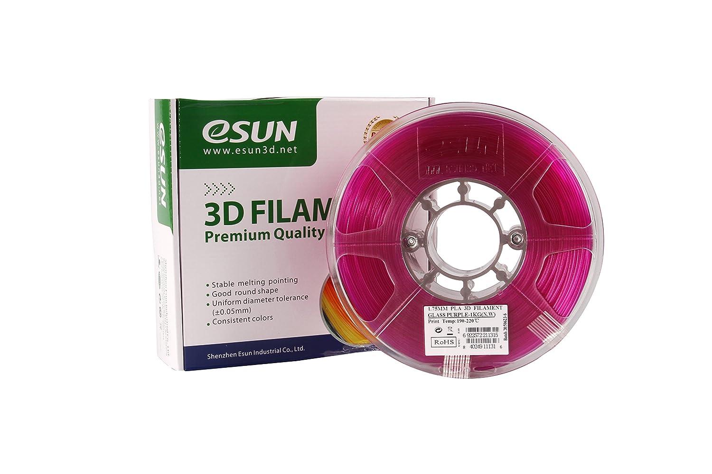 Esun cristal morado impresora 3d pla filamento de 1,75 mm 1 ...