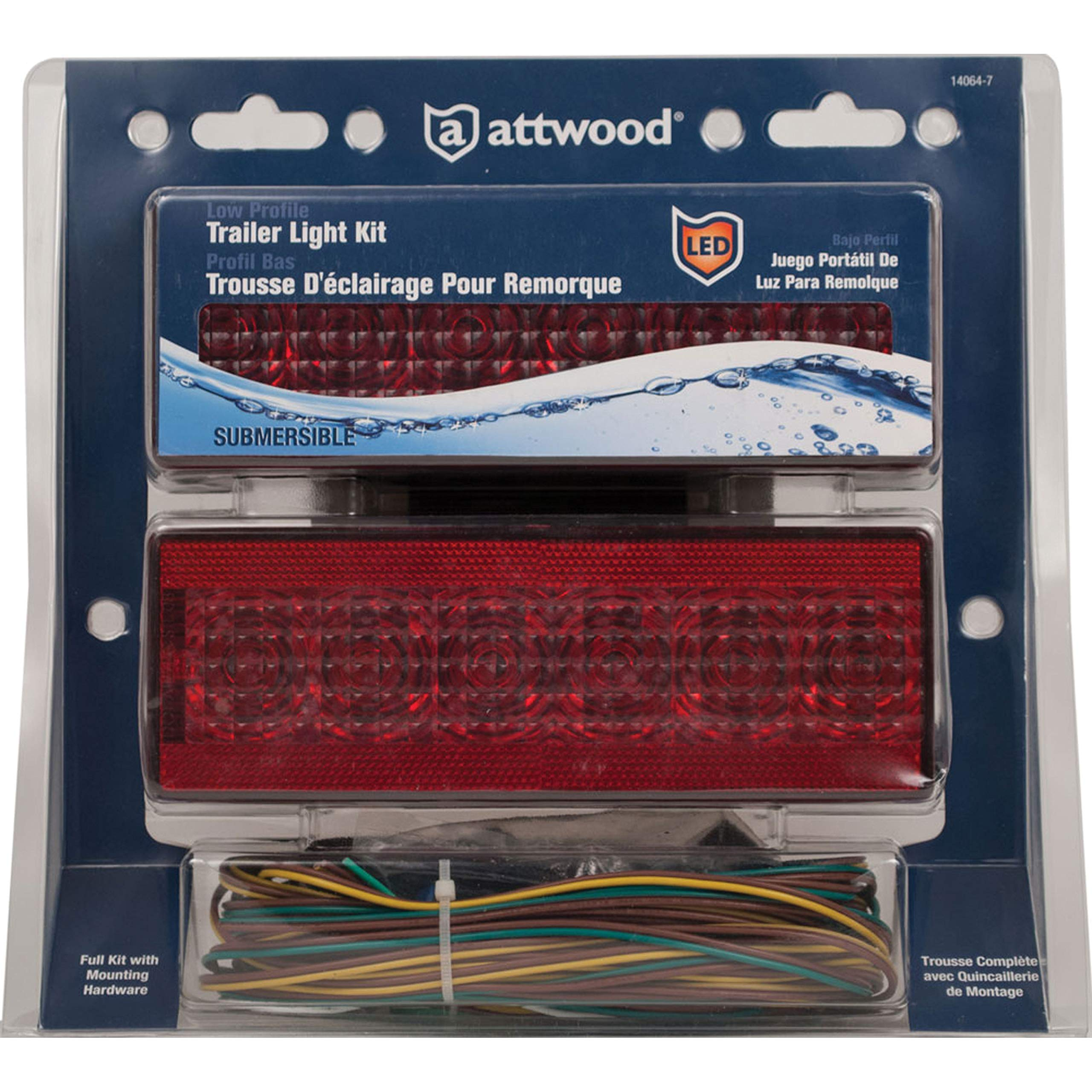attwood 14064-7 LED Low-Profile Trailer Light Kit by attwood