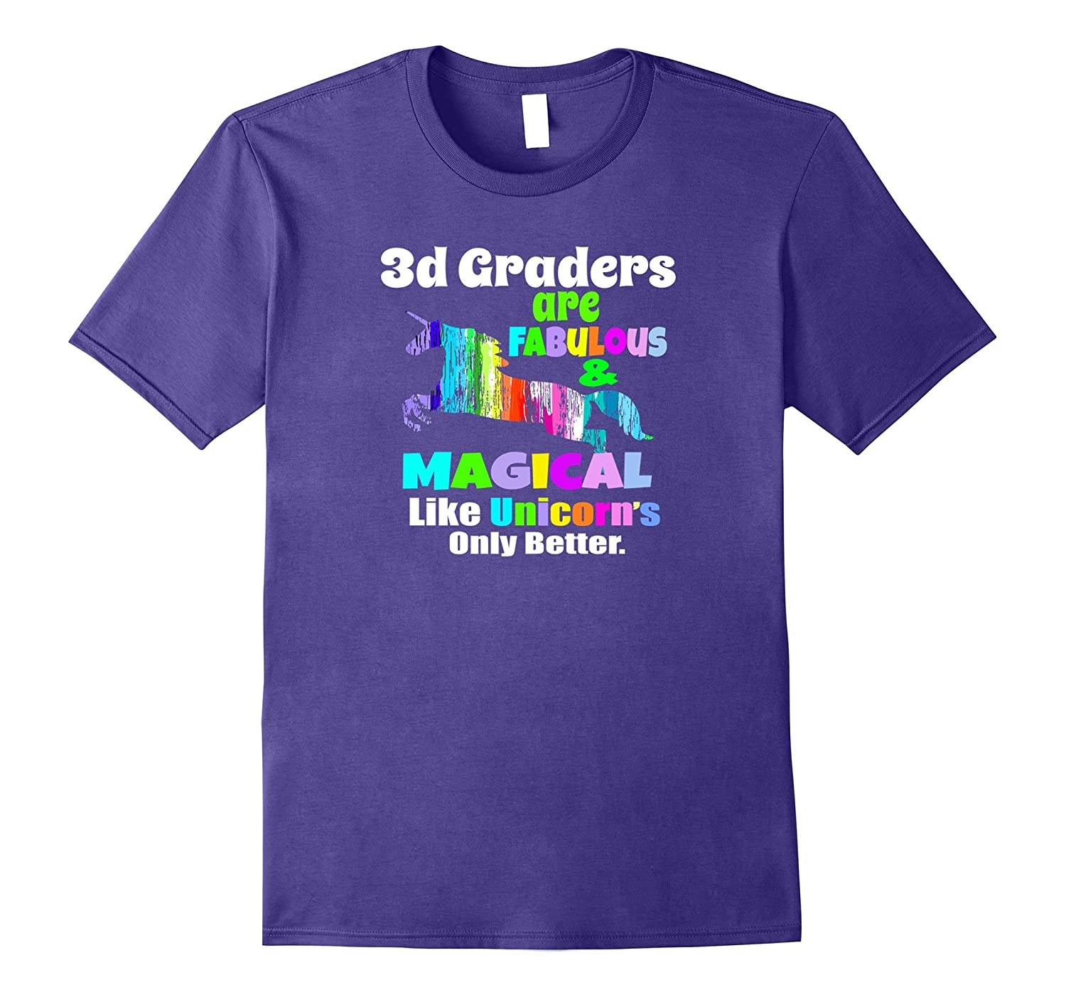 3d Graders Third Grade Teacher Fabulous Unicorn School Shirt-Art