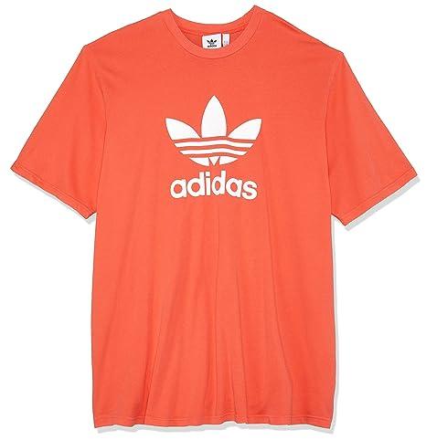 Adidas Trefoil – Camiseta de, Hombre, DH5777, Bright Red, XX-Large
