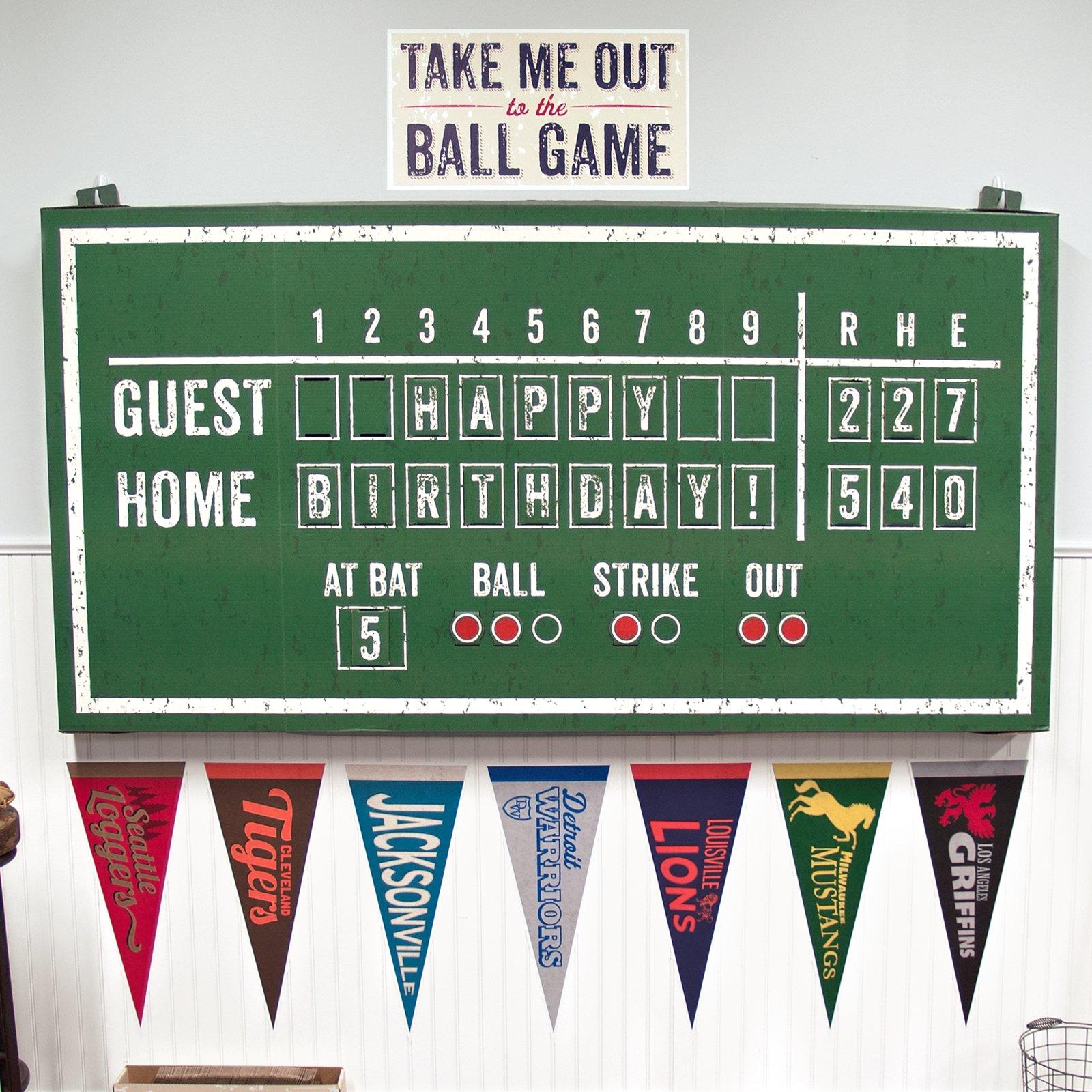 Baseball Time Party Supplies - Hanging Scoreboard by BirthdayExpress