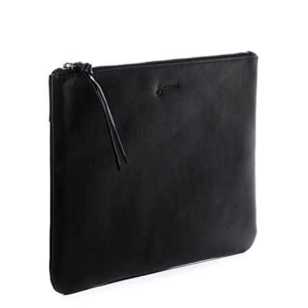 ea5b3dd50151 BACCINI real leather cosmetic bag MEL small make-up pouch beauty bag  genuine leather women´s bag black  Amazon.co.uk  Luggage
