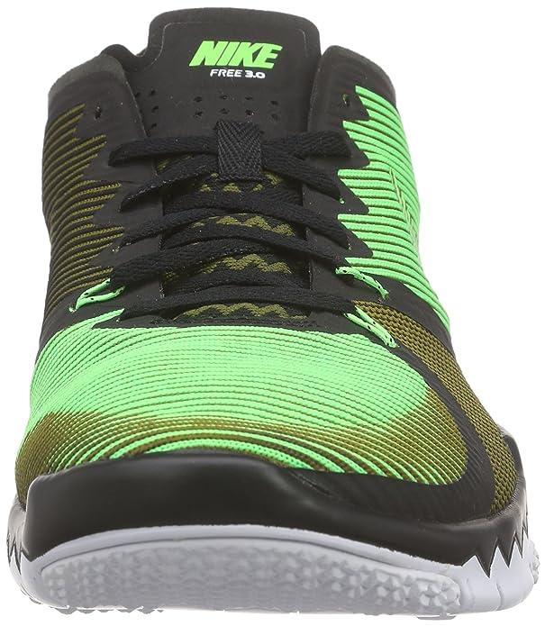 Nike Free Trainer 3.0 V4, Zapatillas de Deporte Exterior para Hombre, Negro/Verde/Blanco (Black/Vltg Green-Mlt Grn-White), 47 EU