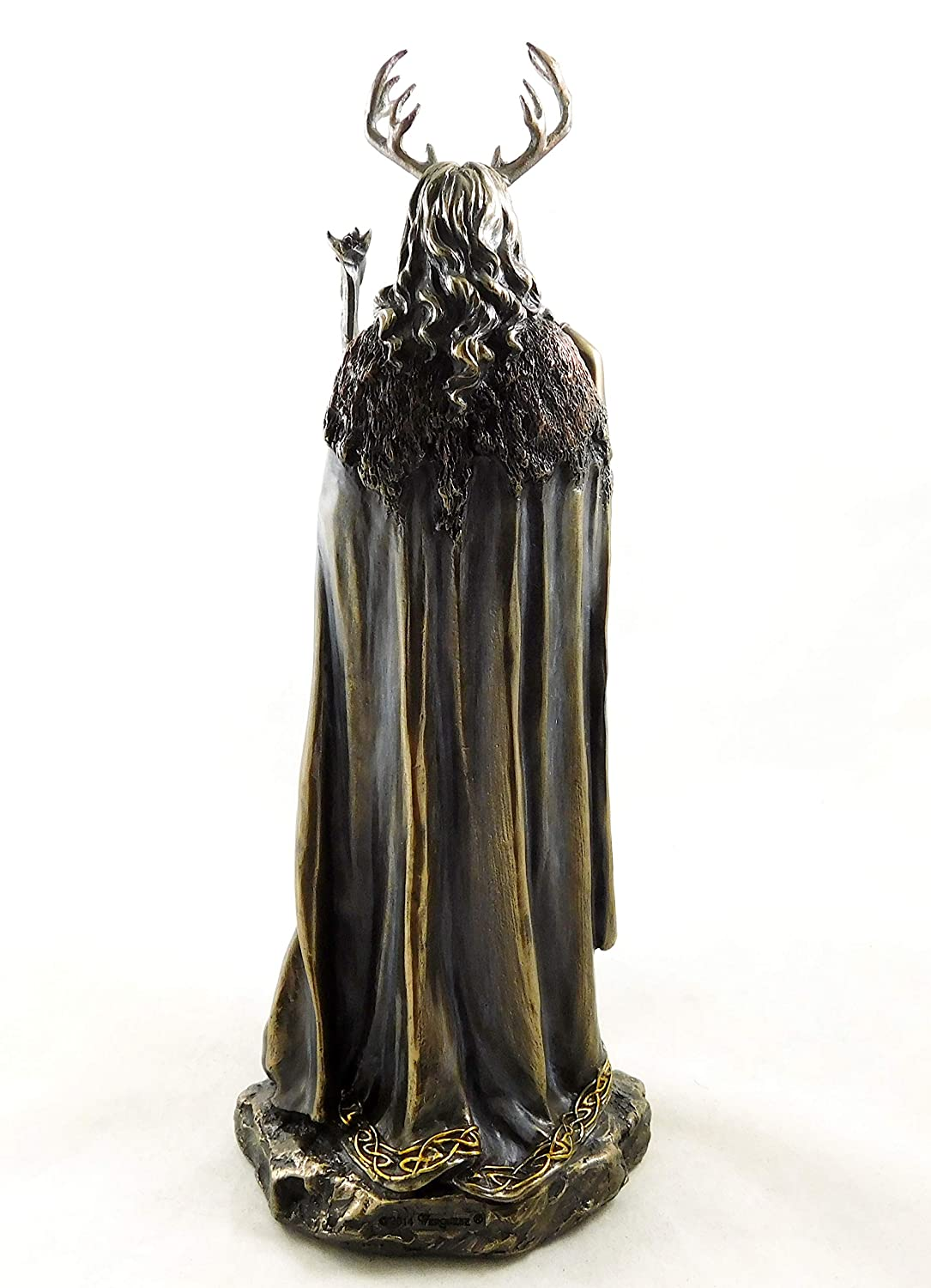 Wiccan Lady Bronzed Witch Statue Keeper of the Forest Witcraft Figurine Ornament by Nemesis Now