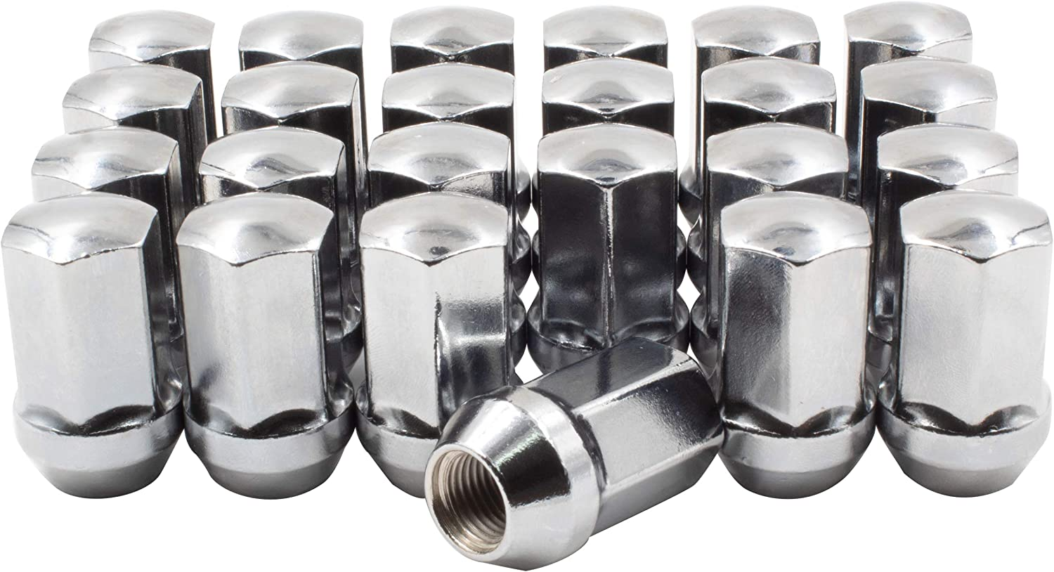 "Wheel Accessories Parts Set of 24 Lug Nut M14x1.5 (1.77"" Long) OEM Factory Style Direct Replacement Lug Nuts (Chrome)"