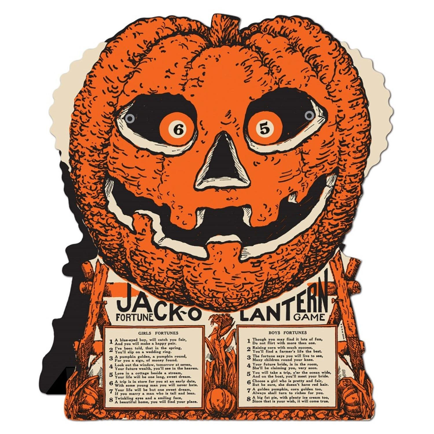 Club Pack of 12 Jack-O-Lantern Fortune Wheel Party Favor Halloween Game 9'' by Party Central