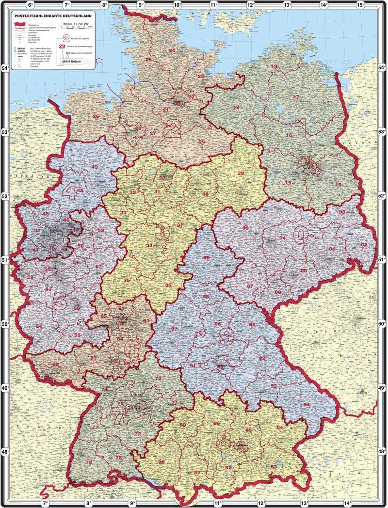 Deutschlandkarte Postleitzahlen Pdf