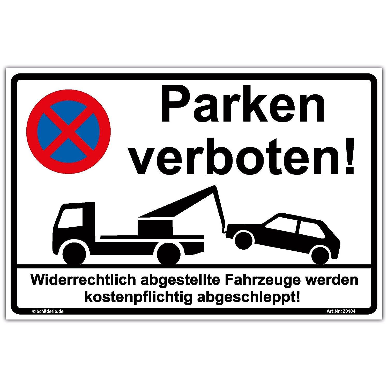 Schild'Parken verboten' Hinweisschild 300x200 mm stabile Aluminiumverbundplatte 3mm stark wall-art-design