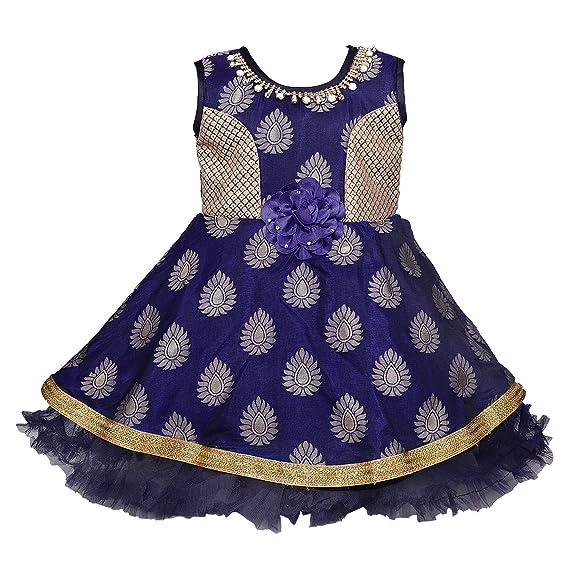 13ecae39884c Wish Karo Baby Girls Party wear Frock Dress DN - (fe2616blunw 5-6 ...
