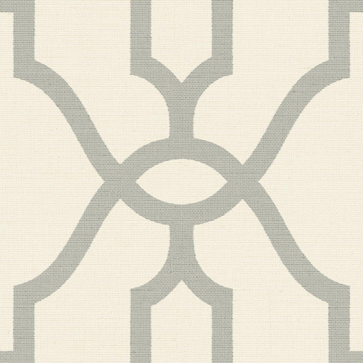 York Wallcoverings ME1555 Magnolia Home Vol. II Woven Trellis Quarry Grey on Cream