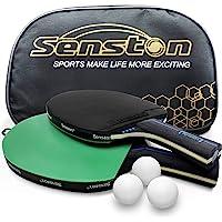 Juego de Raquetas de Tenis de Mesa Senston con 3 Pelotas, 2 Palos de Ping Pong Profesionales, Juego de Tenis de Mesa con…