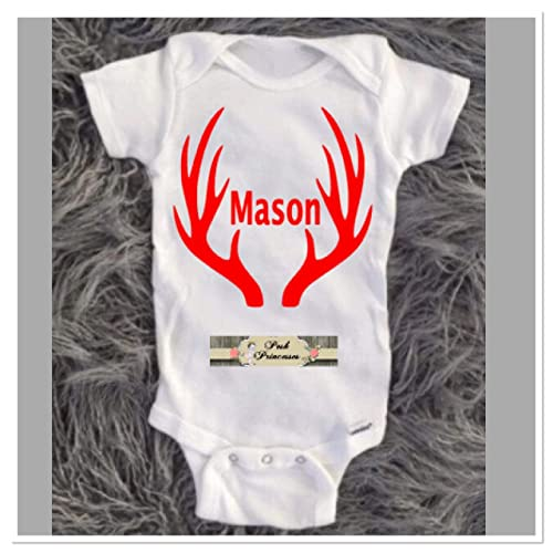 0992c0f8c Amazon.com: Baby Boy Onesie, Personalized Hunting Onesie, Oh Deer ...