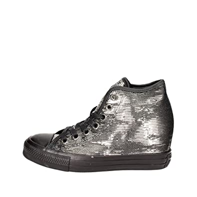 Femme Converse All Star Baskets | CT AS MID LUX SEQUINS Argent | Altix Solutions