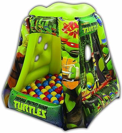 Teenage Mutant Ninja Turtles Heroes Tower Ball Pit, 1 Inflatable & 20 Sof-Flex Balls, Green, 37