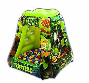 "Teenage Mutant Ninja Turtles Heroes Tower Ball Pit, 1 Inflatable & 20 Sof-Flex Balls, Green, 37""W x 37""D x 34""H"