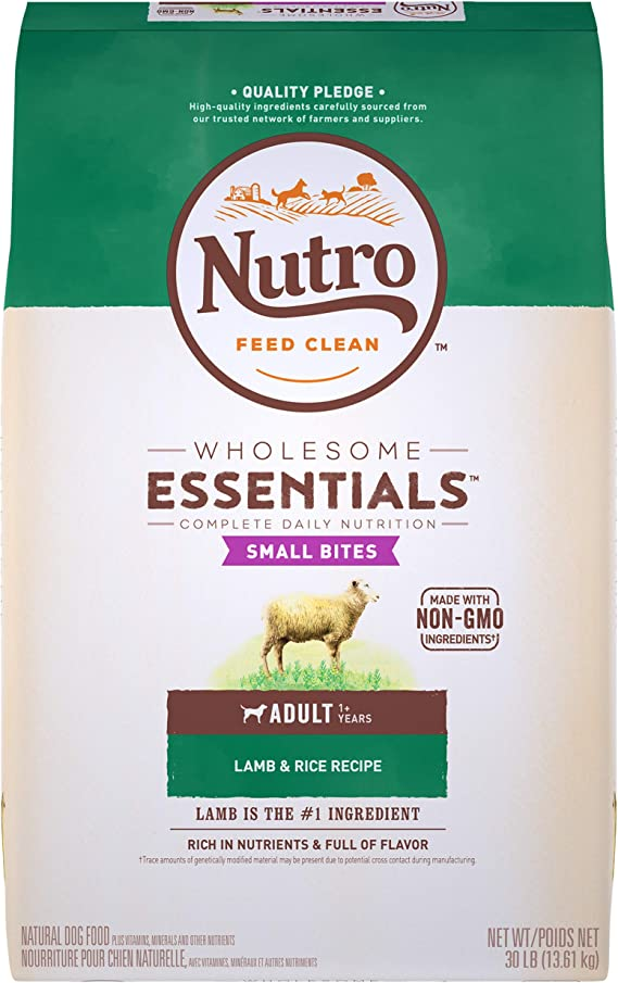 NUTRO WHOLESOME ESSENTIALS Small Bites Adult Lamb & Rice Dry Dog Food