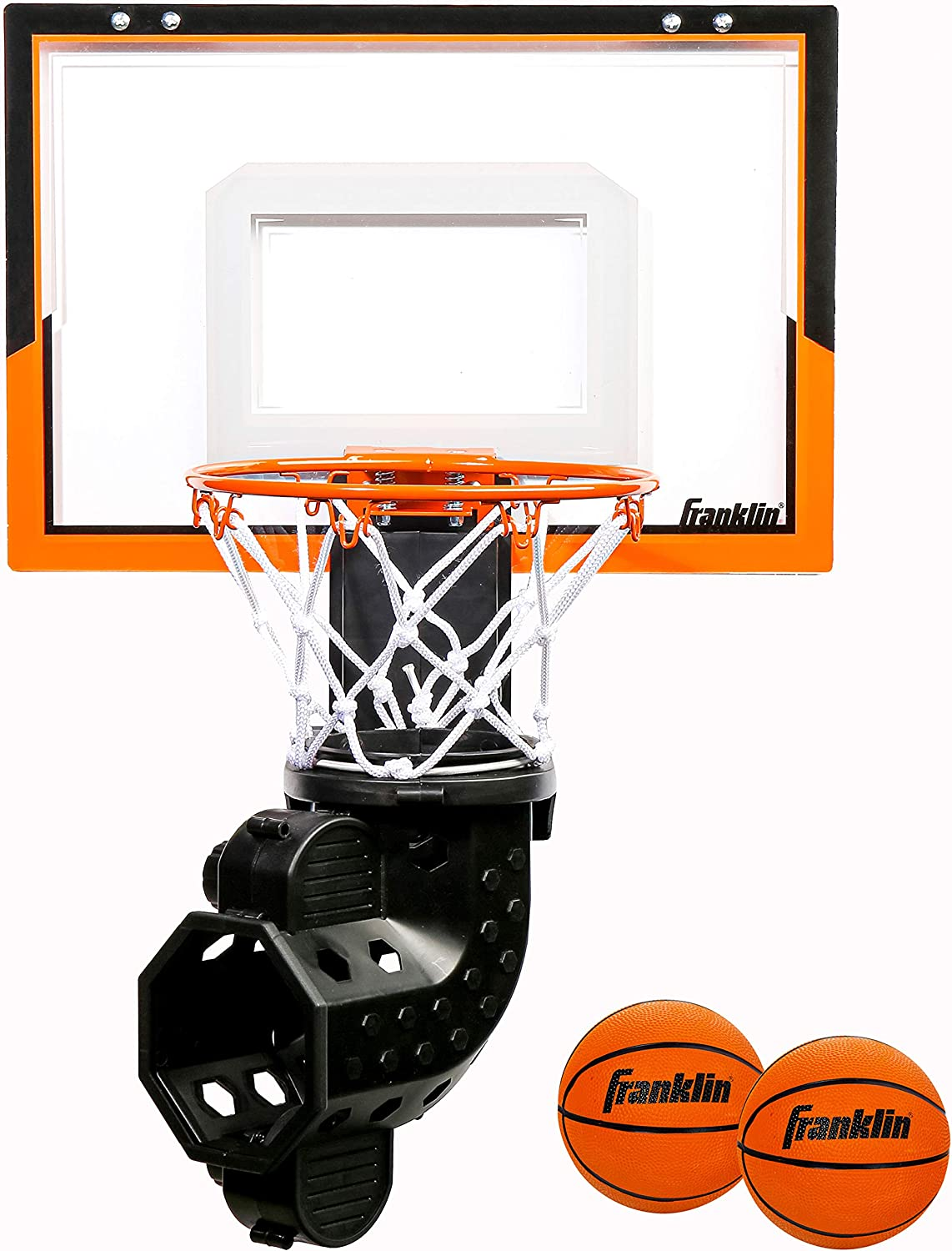 Electronic Over Door Basketball Hoop Kids Moving Indoor Backboard Game With Ball