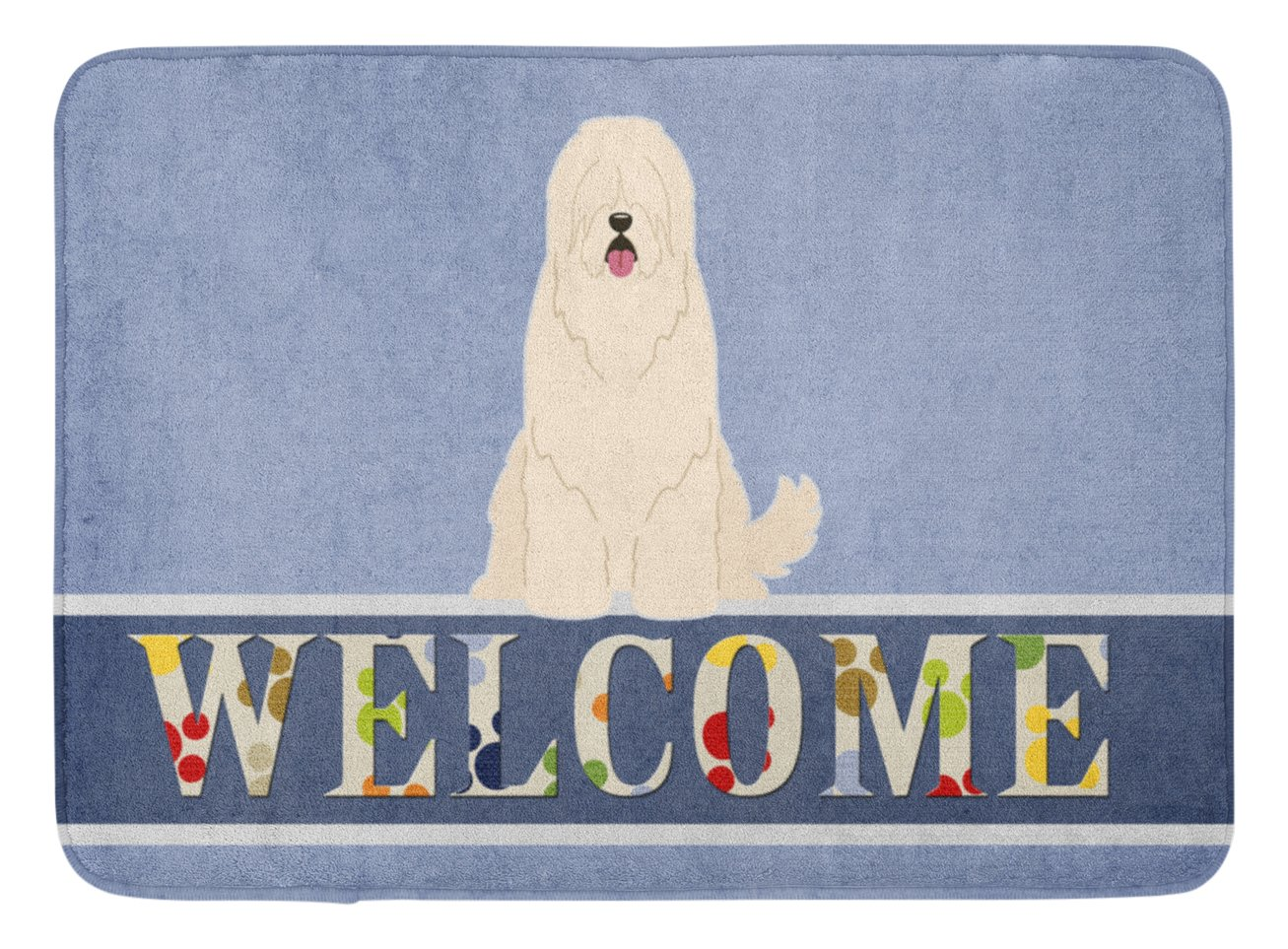 Caroline 's Treasures bb5605rug South Russian Sheepdog Welcomeフロアマット、19 x 27、マルチカラー   B06VSKMZB7
