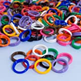 """30 Pack Spiral Chicken Poultry Leg Bands Rings - #11 11/16"""" size - Mixed Colors"""