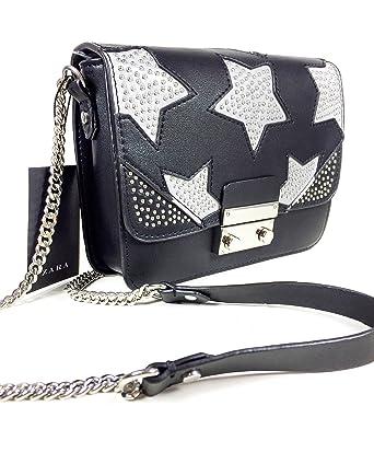 d8cbba4477 Zara Women s Crossbody bag with reflective stars 8622 204  Amazon.co.uk   Clothing